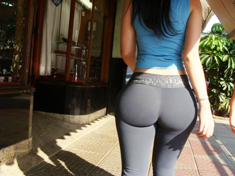 Sexy bubble butt yoga pants
