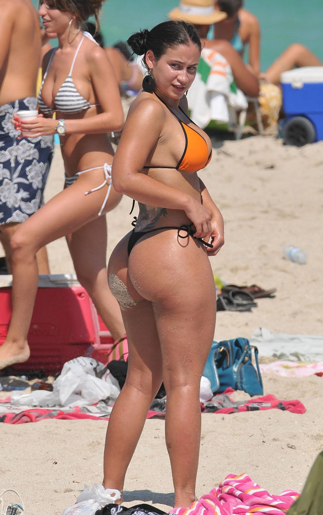 What phrase..., Big tits and ass at the beach serious?