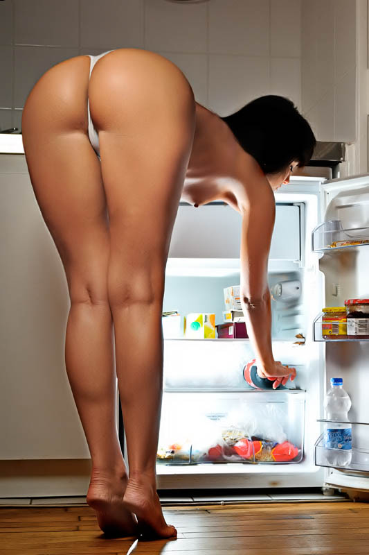 Dirt Pussy Naked Woman In Fridge