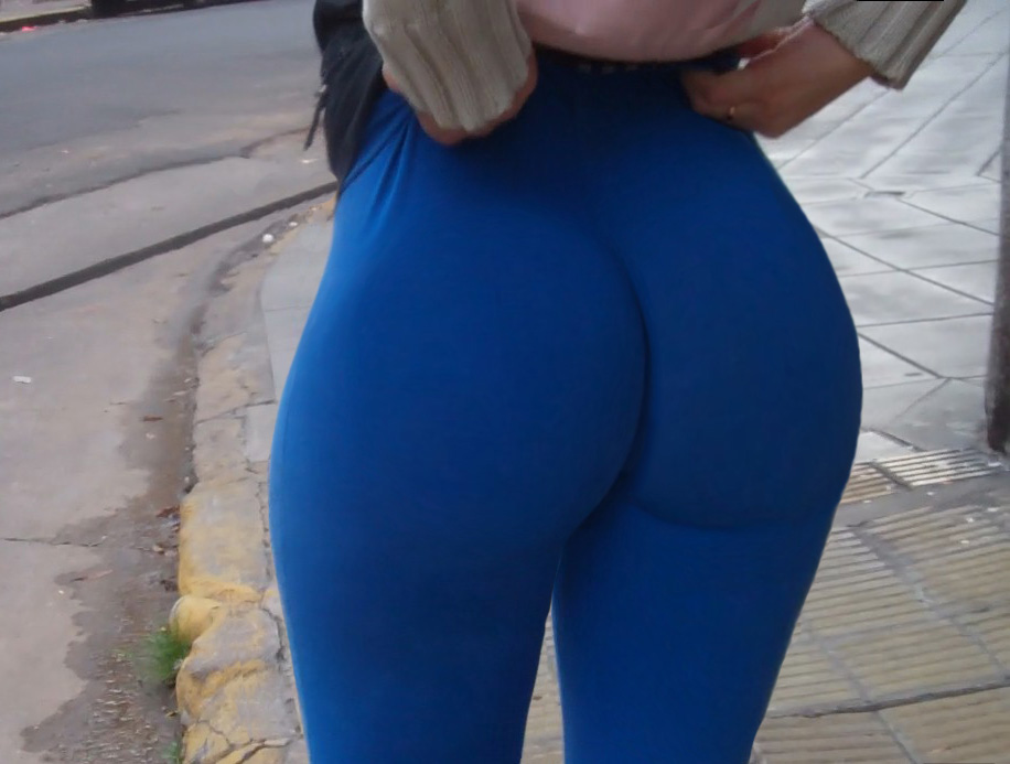 image Mexican woman pushing leggings with phat ass