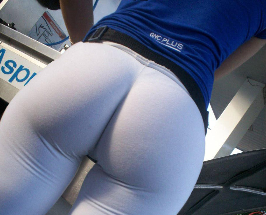 Fat ass in yoga pants