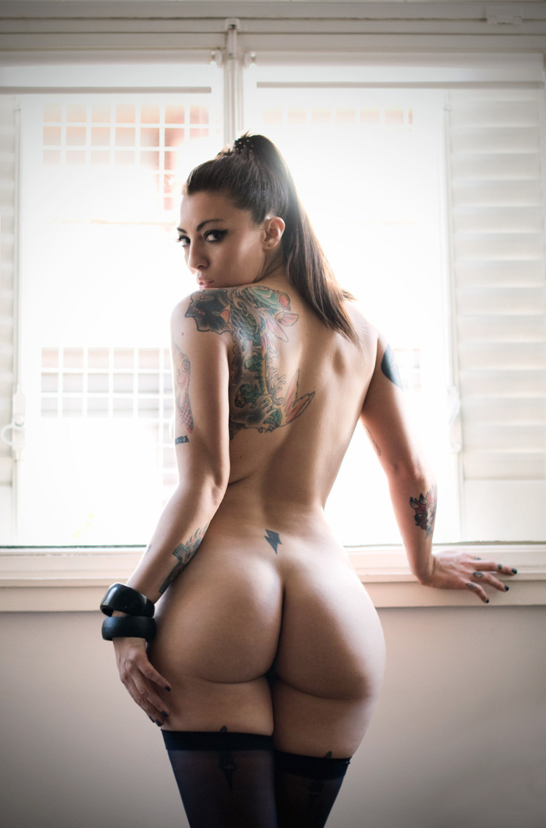 tatted ass