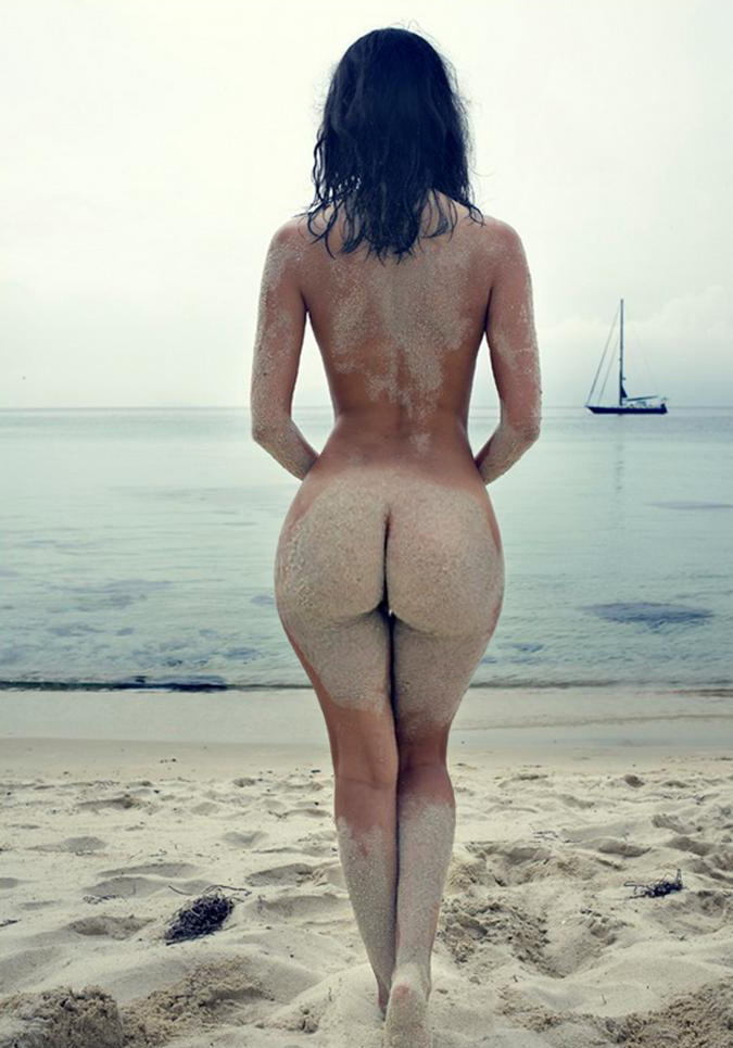 topless and butt naked