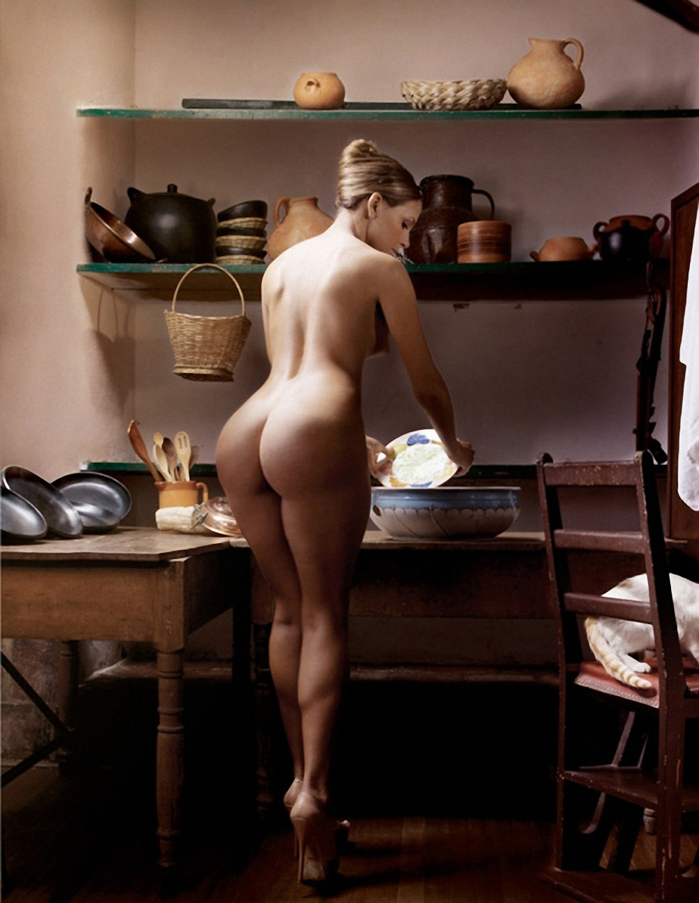 For support. Big butt girl naked in the kitchen will not