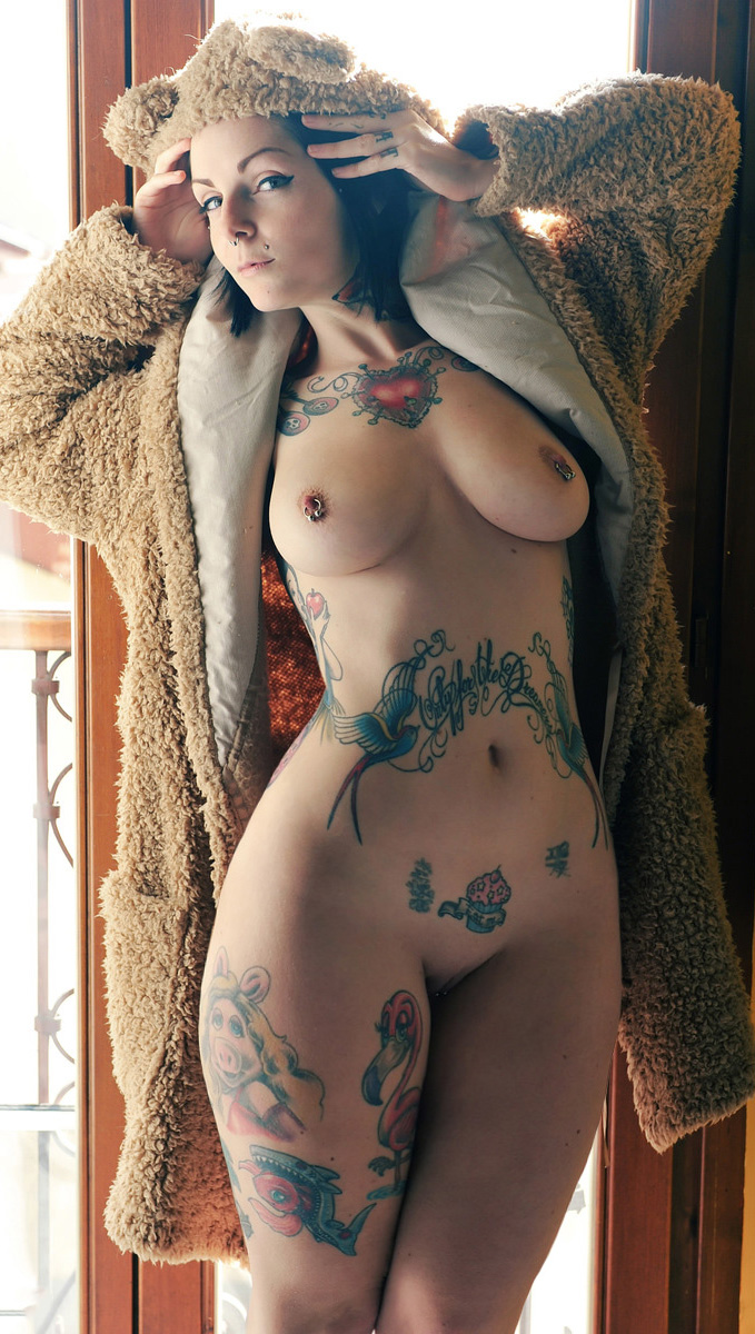 Naked women ass tattoos