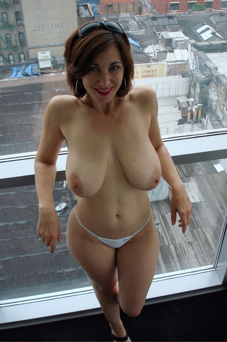 Augmented boobs free milf wife this new haircut!