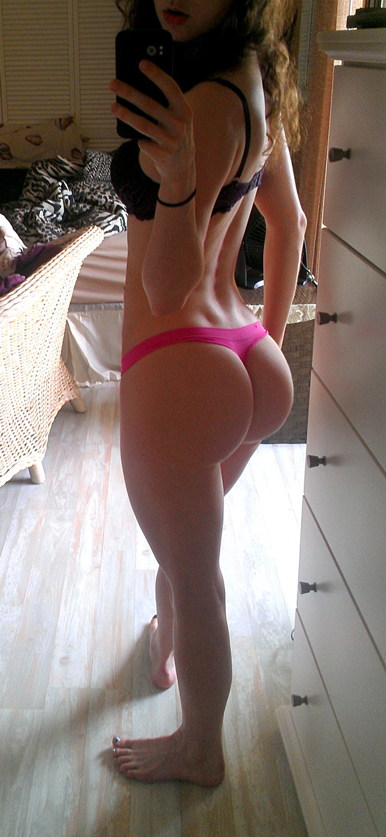 Huge hot ass in pink panties