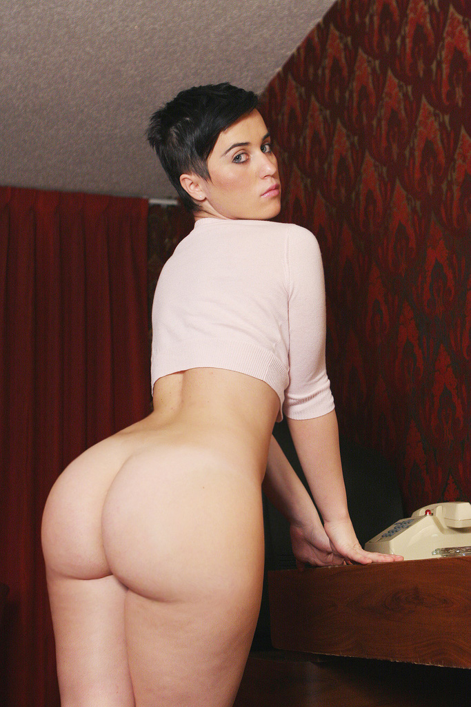 Big Ass Short Hair Brunette