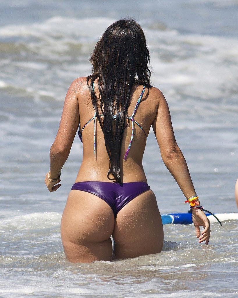On the beach pics ass