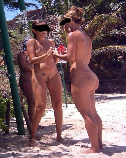 Nude brazilian on beach are