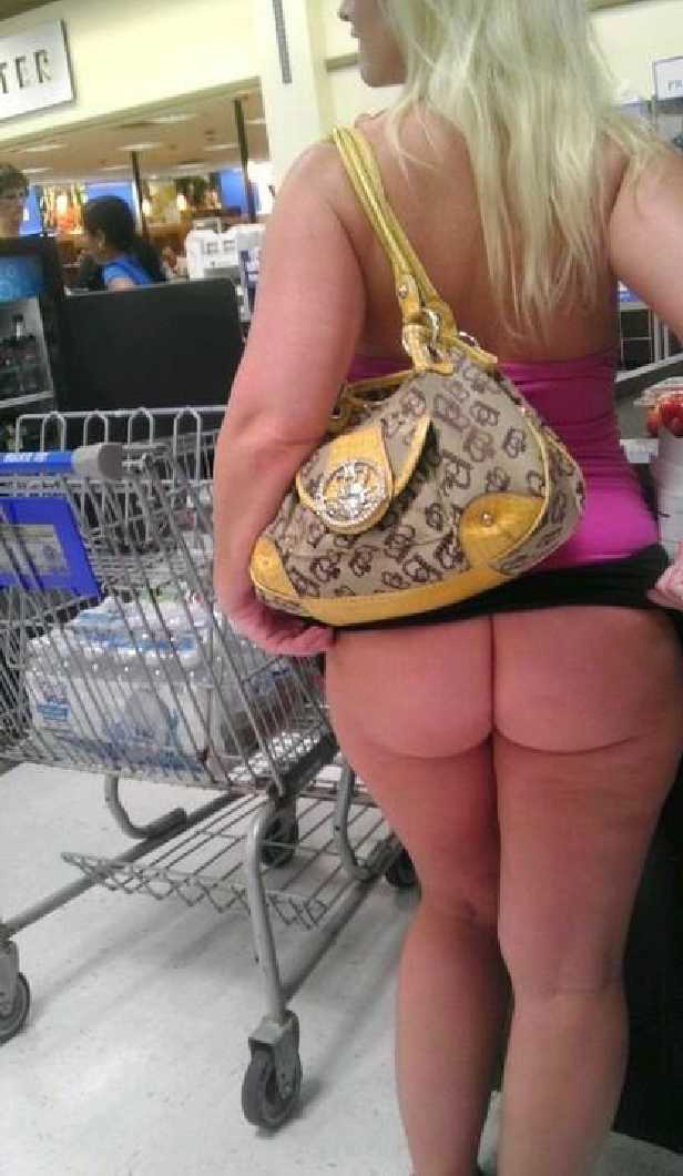 Amature female in booty shorts at wal mart