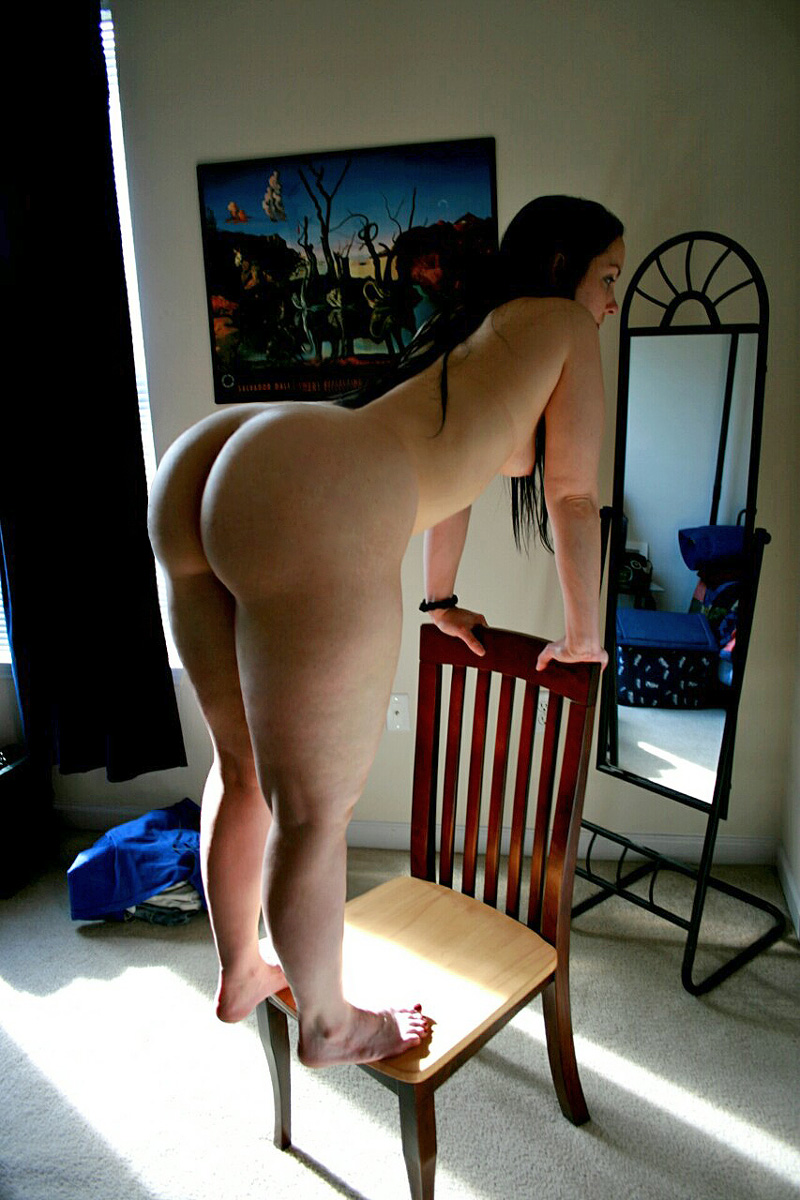 booty girl on chair