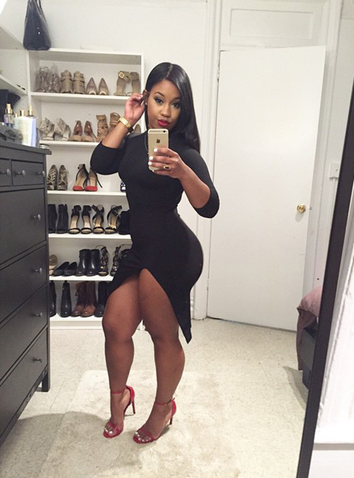 Ebony nude selfies