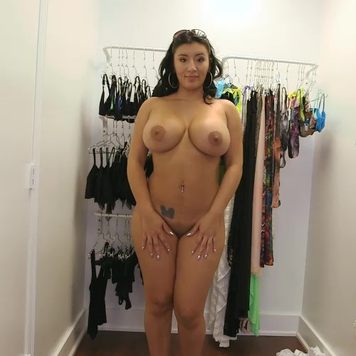 Busty latin showing her huge tits 4