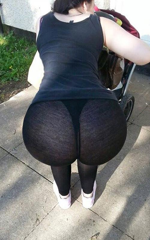 See thru stretch pants car wash candid