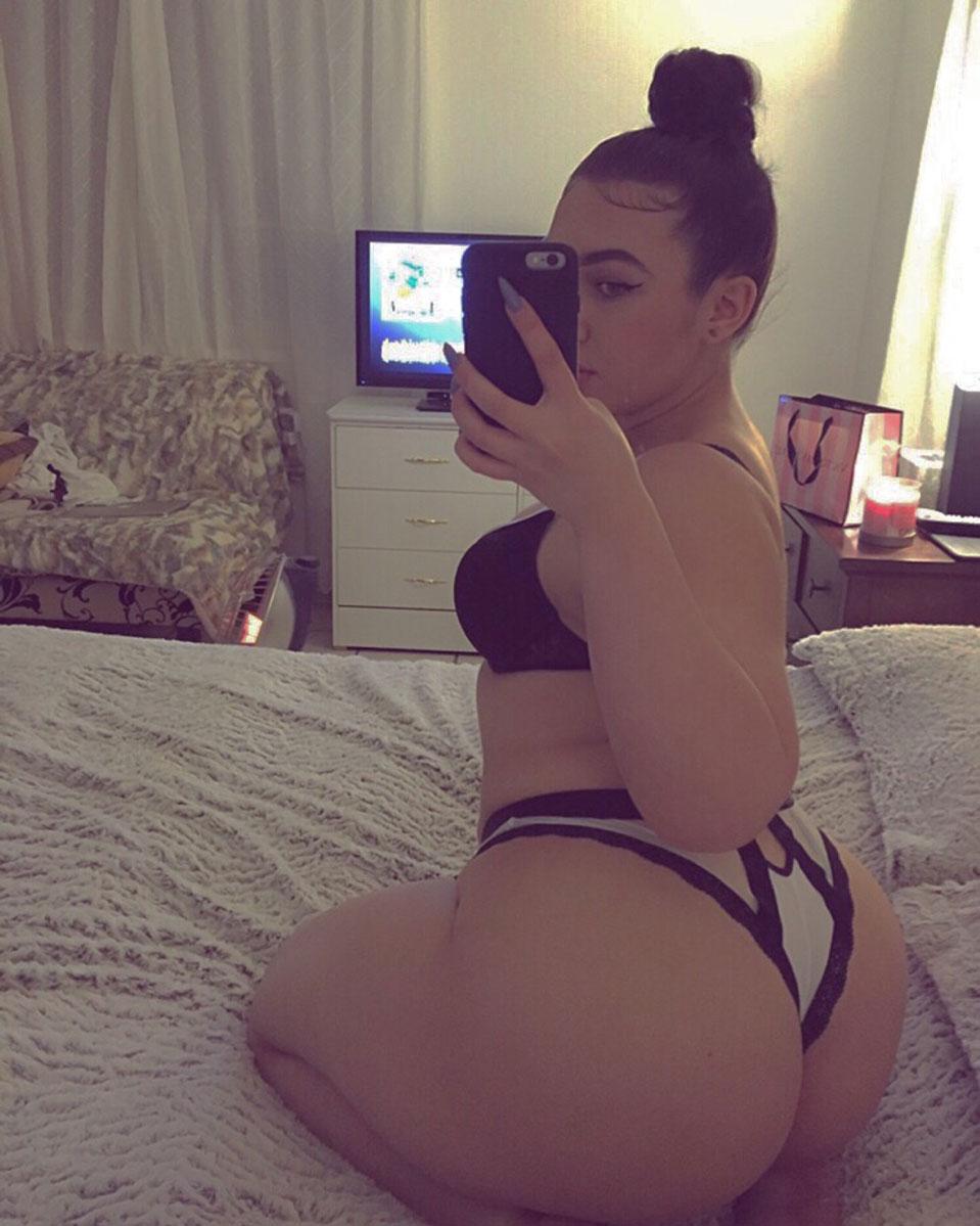 big naked white ass