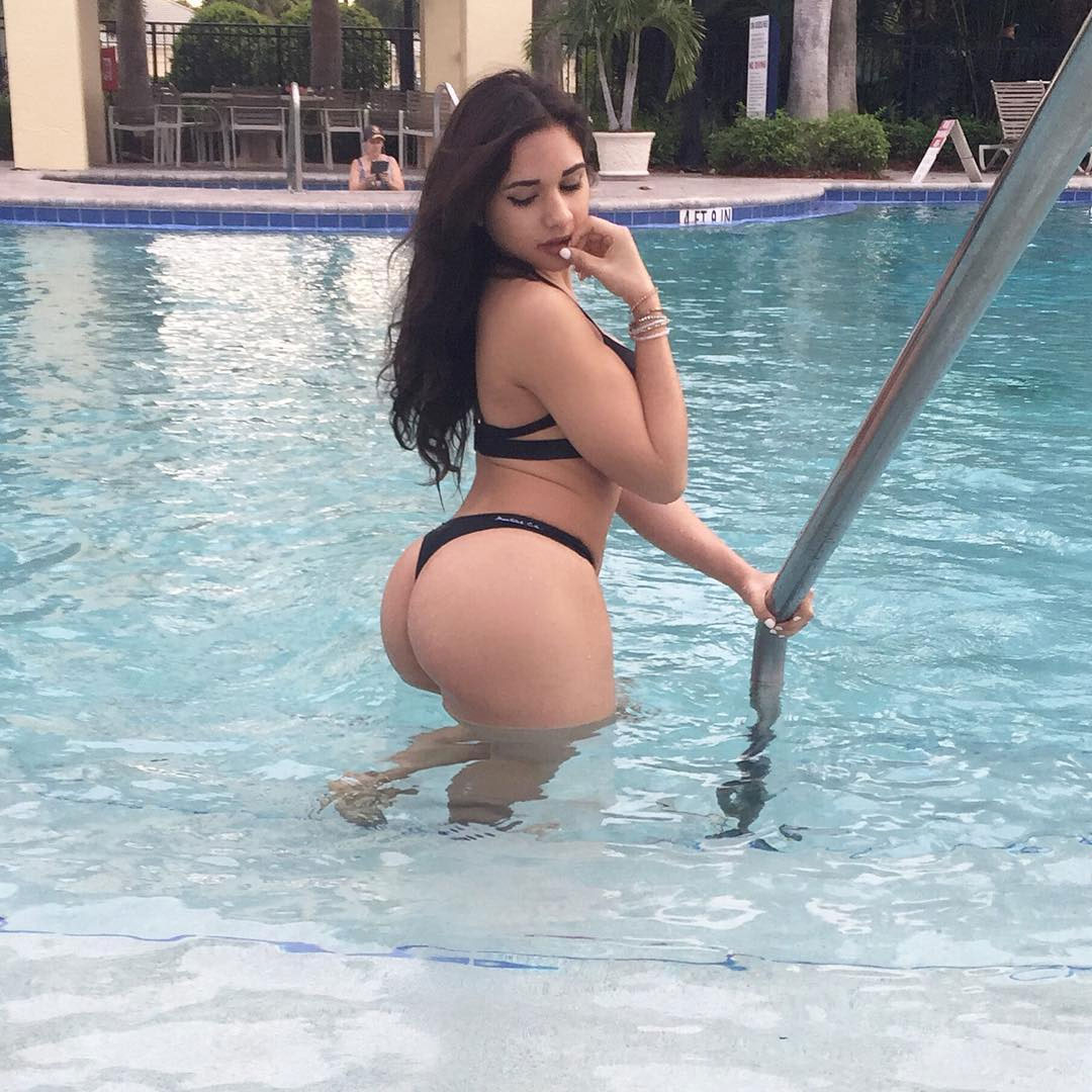 big butts in pool